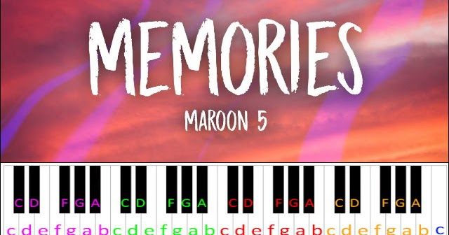 Memories By Maroon 5 Piano Letter Notes
