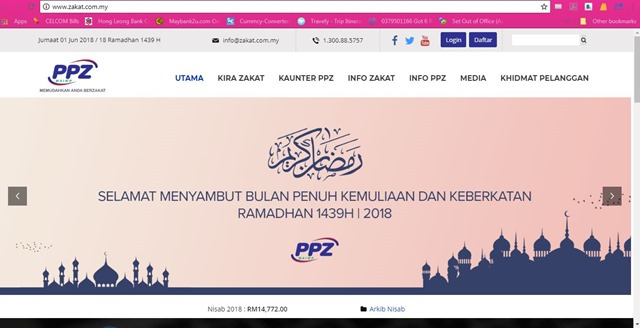 Ini Era Media Sosial, Let's ZAKAT Online!