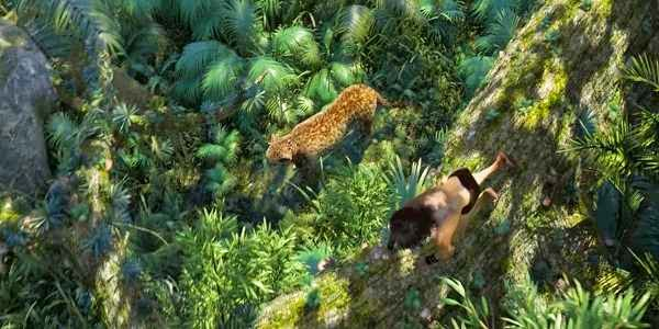 Screen Shot Of Hollywood Movie Tarzan (2013) Download And Watch Online Free at alldownloads4u.com