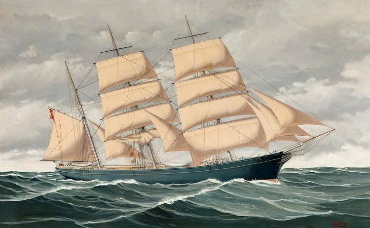 Acuarela de la barca ASUNCION. Autor, Jorge Pirretas Puig.tif