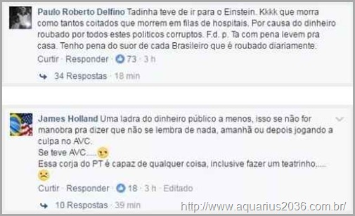 ódio direita contra Marisa Letícia