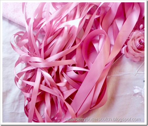 Lots of pink ribbon.