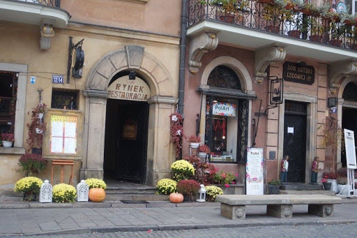 Beautiful cafes at Warsaw Old Town Market Place Poland