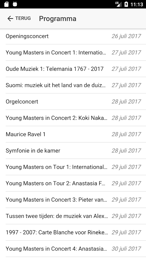 Peter de Grote Festival 2017- screenshot