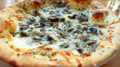 Wild Mushroom and Gorgonzola Pizza at Nel Centro, available at lunch and happy hour