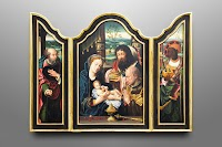 An Original Painted Triptych from the Studio of ALBL Oberammergau