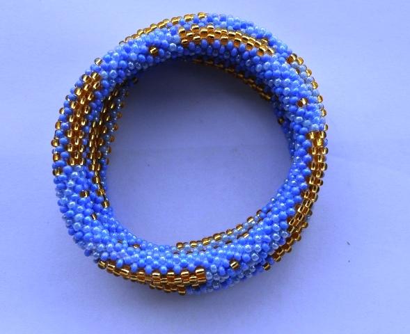 Blue and gold Bracelets
