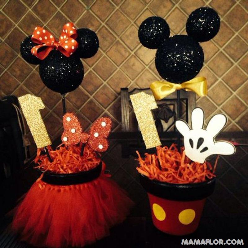 centro de mesa mickey y minnie mouse --- (13)