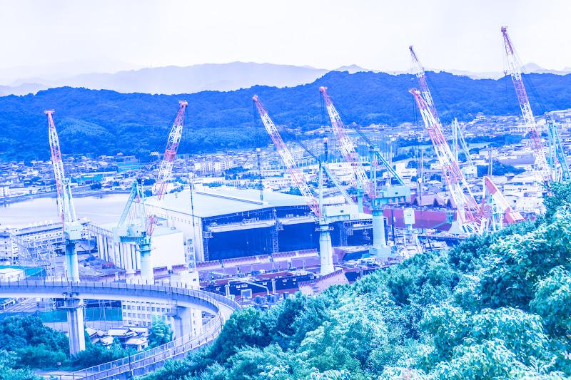 糸山公園展望台 今治 造船 2
