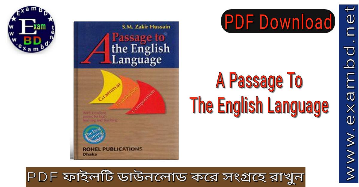 A Passage to the English language PDF file download