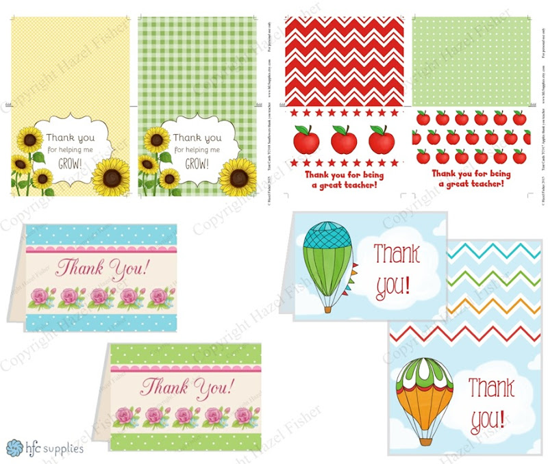 2015 July 02 Printable thank you teacher cards hazelfishercreations