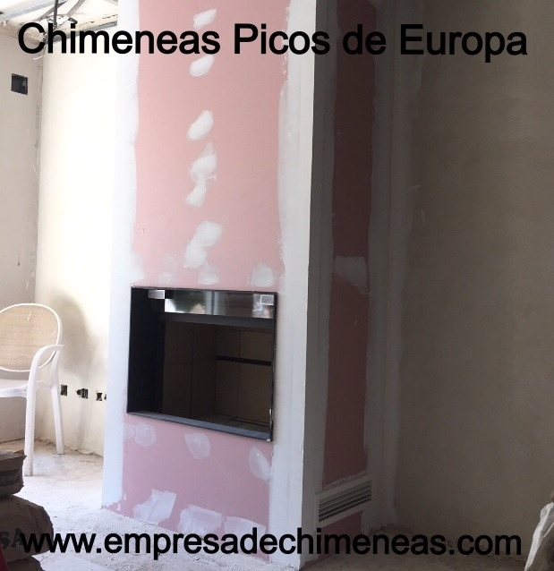 Chimeneas picos de europa chimenea de le a con puerta de - Chimeneas picos de europa ...