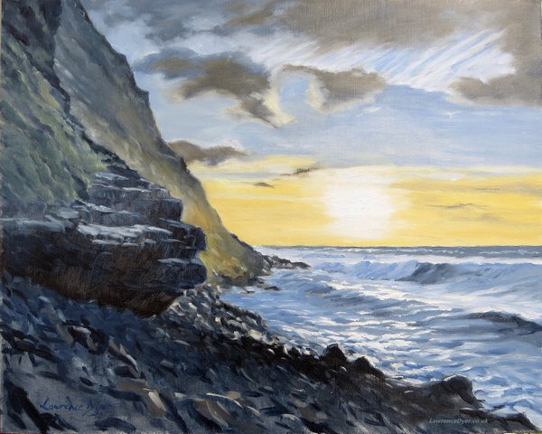 Warren Point Sunset. Artist Lawrence Dyer