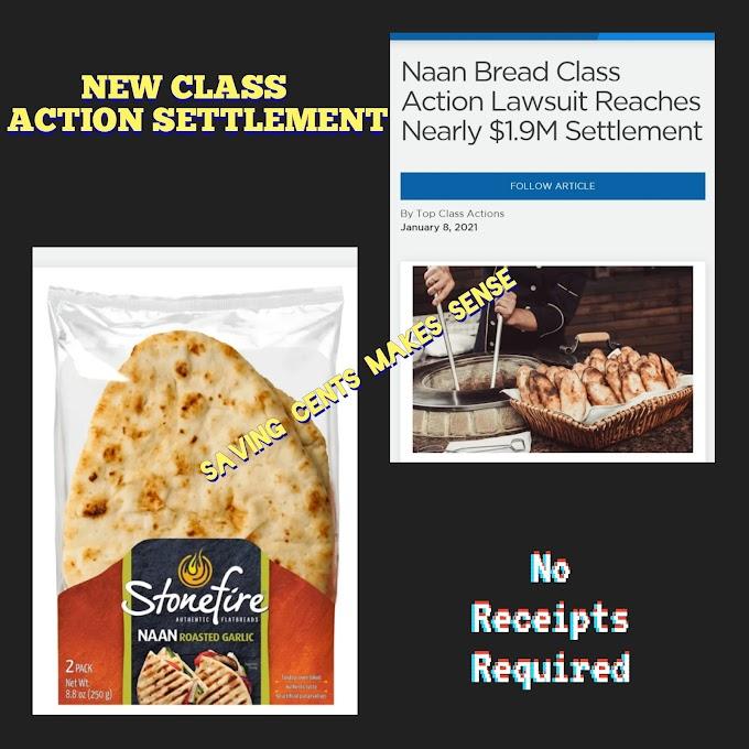 Naan Bread Class Action Lawsuit Settlement