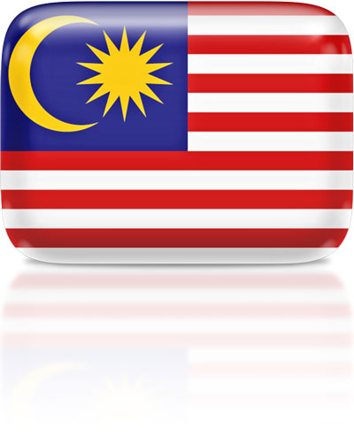 Malaysian flag clipart rectangular