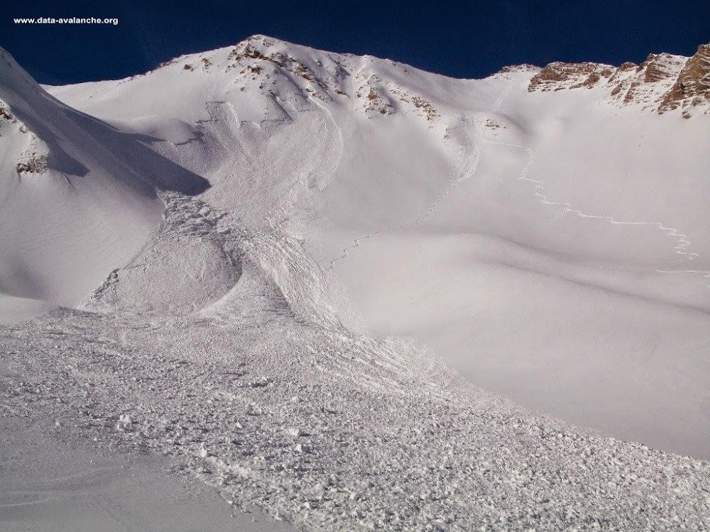 Avalanche Ubaye - Parpaillon, secteur La Grande Combe - Photo 1 - © Alexandre Darrioulat