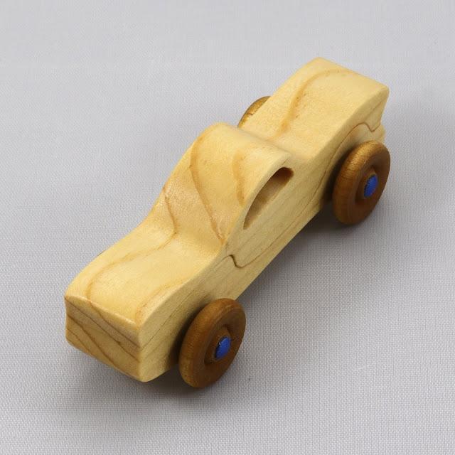 Handmade Wood Toy Car Itty-Bitty Caddy Mini Play Pal Size Pocket Car