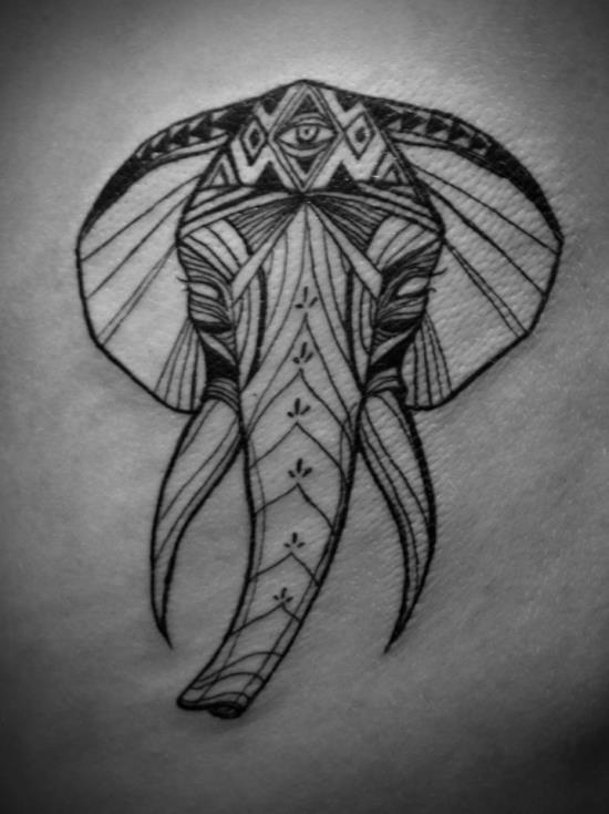 tribal_elefante_africano_da_tatuagem