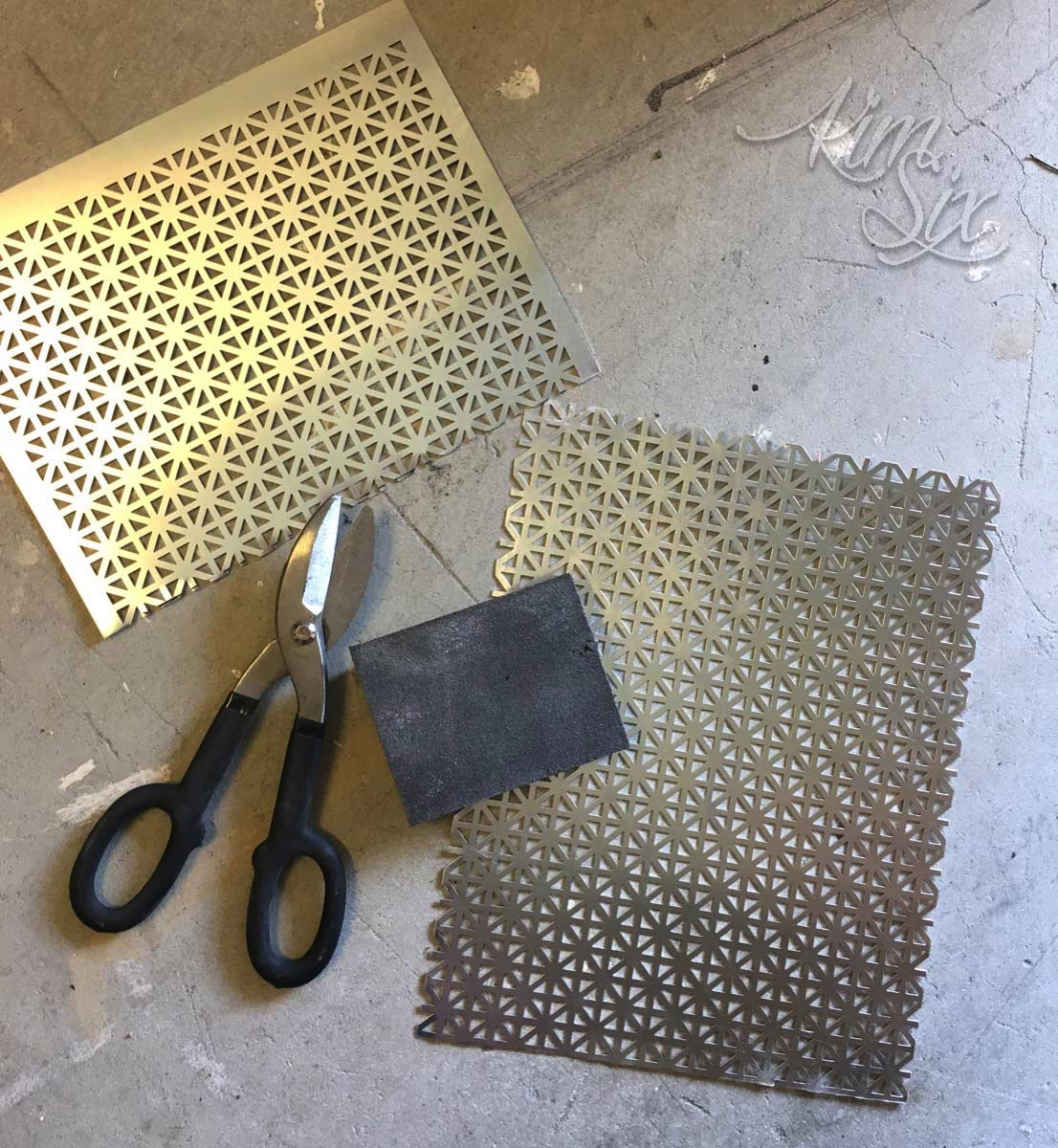 Cutting performated decorative metal sheets for photo frame