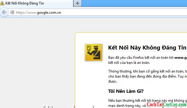Cách sửa lỗi SSL khi lướt web bằng trình duyệt Cốc cốc