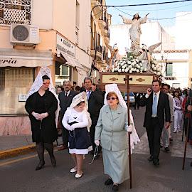 Procesión del Encuentro en Montijo