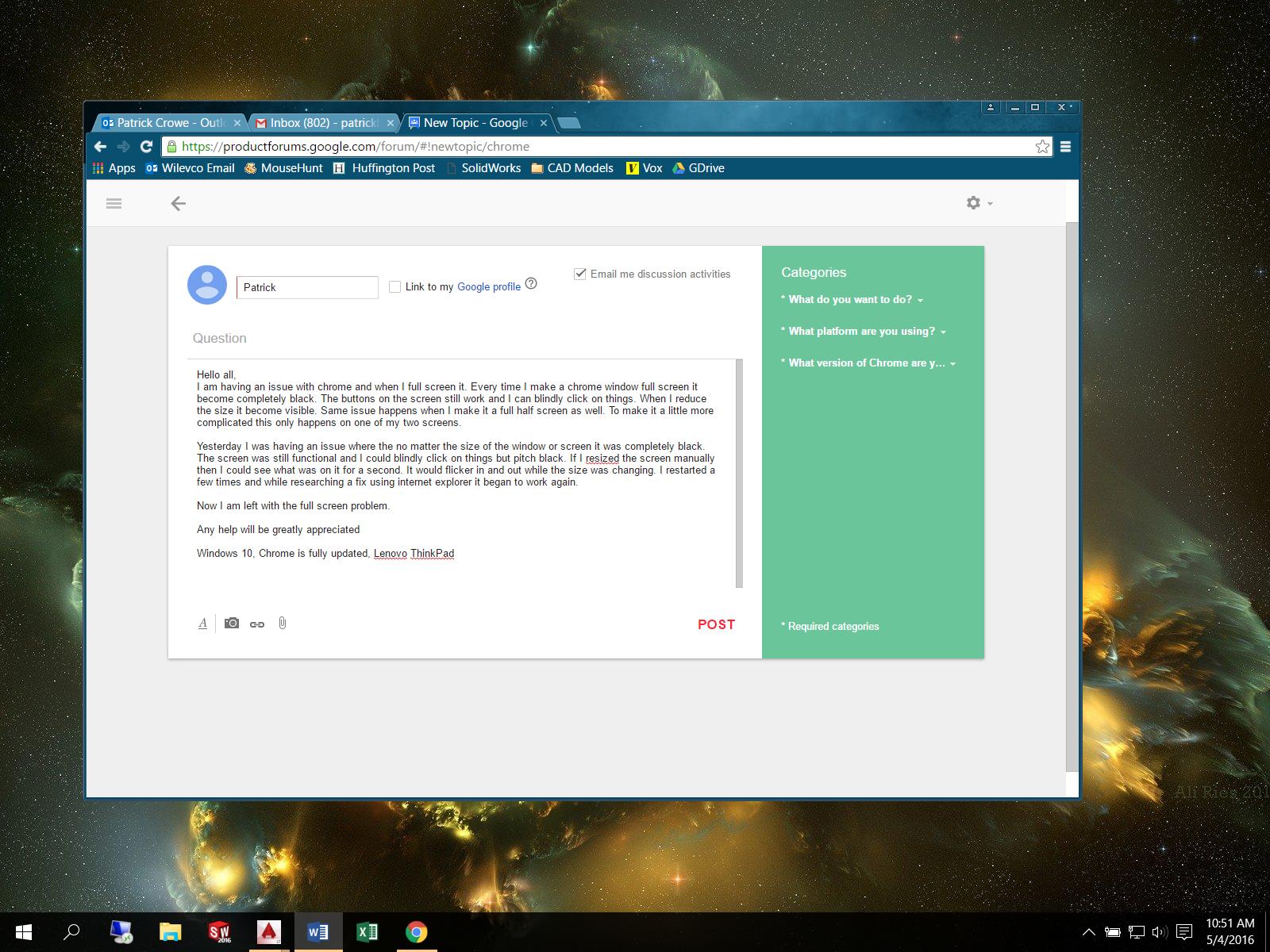Chrome Black Screen Issues - Google Chrome Help
