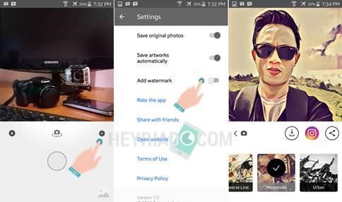 pada foto hasil editan sebetulnya sangatlah gampang Cara Hapus Logo Watermark Prisma di Android