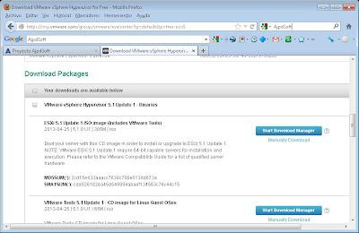 Fichero ISO y CD de instalación de VMware ESXi 5.1