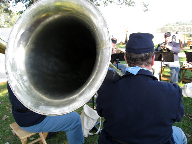 Looking down the bell of a bass saxhorn