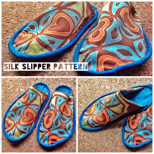 Free silk slippers pattern | Sewn Up