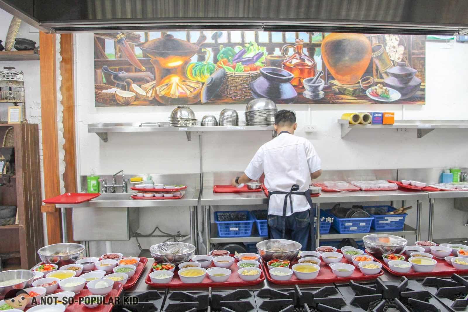Kitchen in PACE Araneta, Cubao