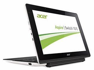 """Acer 10.1"""" Tablet PC Intel Atom Quad-Core 1.33GHz, 2GB RAM, 32GB Windows 10 Home (Certified Refurbished)"""
