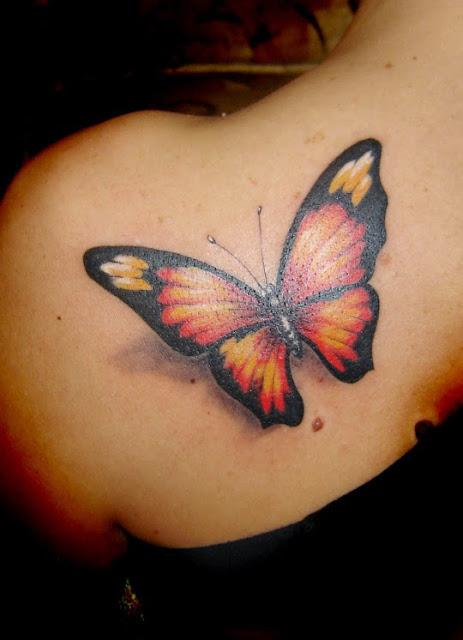 Borboleta 3d tatuagens desenhos sao muito famosos escolha para cada mulher (menina) tatuagens de Borboleta ideias sao amplamente disponiveis para as mulheres