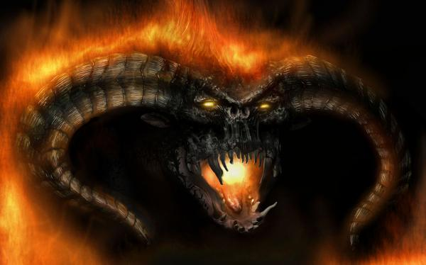 Horned Flame Demon, Evil Creatures