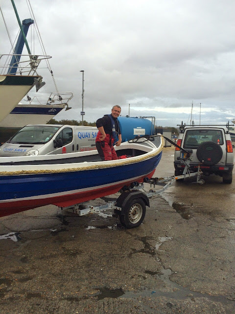 The boarding boat onboard a trailer returning it to the water - 2 November 2014.  Photo credit: Paul Taylor/Alex Evans
