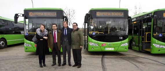 4 nuevos autobuses híbridos urbanos para Boadilla del Monte
