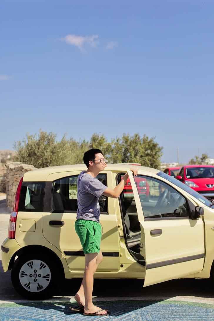 Car Rental Mykonos Greece.
