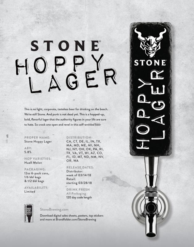 Stone - Hoppy Lager Rebranding Punk In Drublic