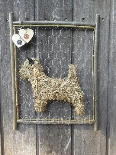 Hooi hondje aan frame