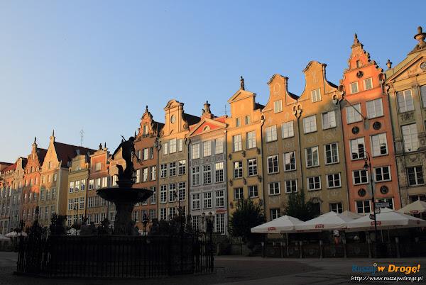 Gdańsk - Ulica Długa o świcie