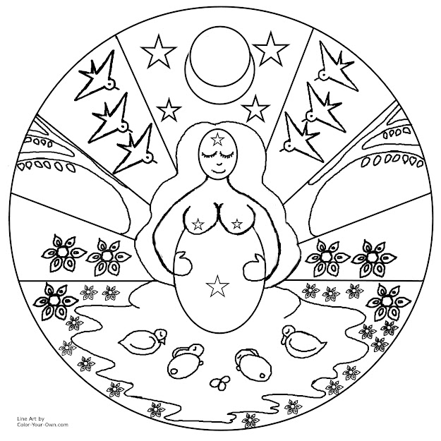 Earth Mandala Coloring Page With Animal Pages Easy To Print