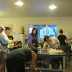 Taupo - Hostelküche am Abend