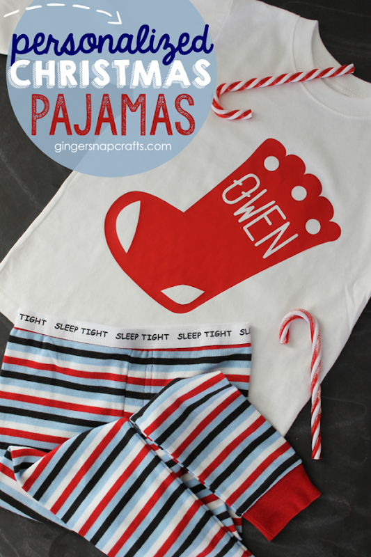 personalized Christmas pajamas at GingerSnapCrafts.com