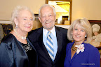 Evelyn Englert, Bob Schieffer and honoree Winnie Wayne.