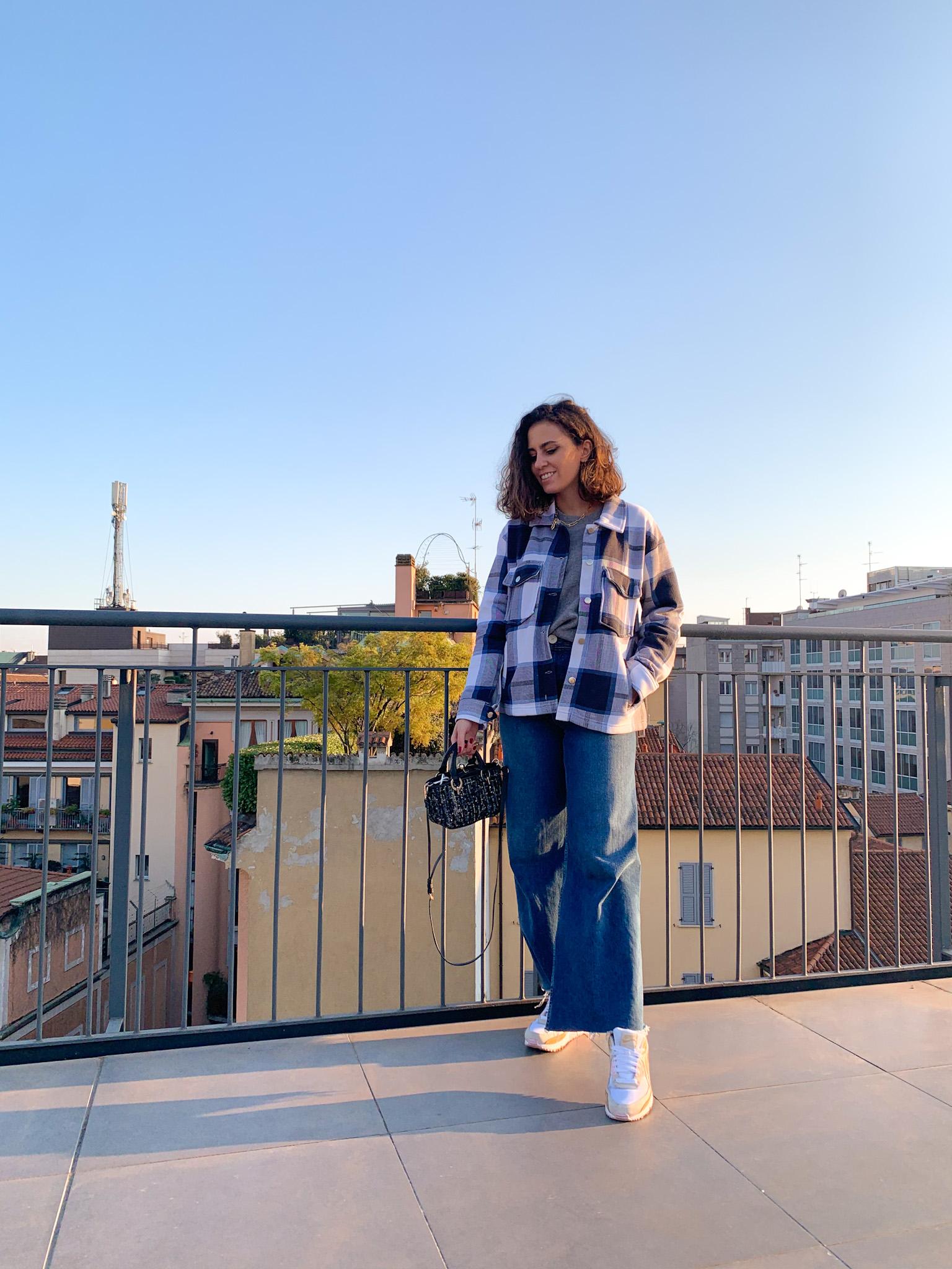 trend giacca camicia a quadri come abbinarla outfit, femme luxe