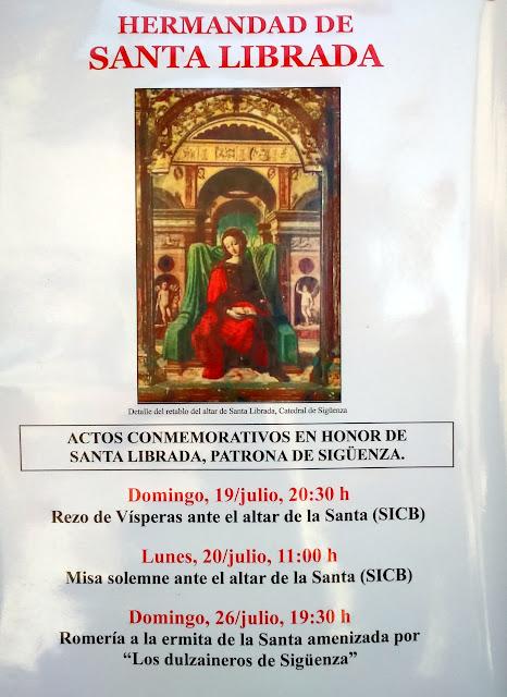 Imagen renacentista de Santa Librada, tal y como aparece en el retablo que tiene dedicado en la catedral
