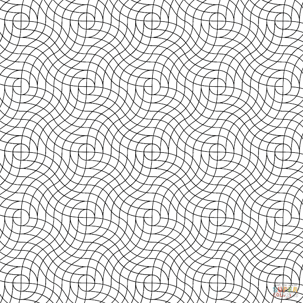 Click The Wavy Weave Pattern Coloring Pages To View Printable Version Or  Color It Online Patible With Ipad And Android Tablets