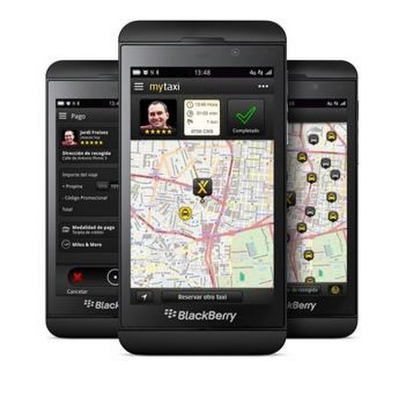 La aplicación mytaxi ya está disponible para BlackBerry 10