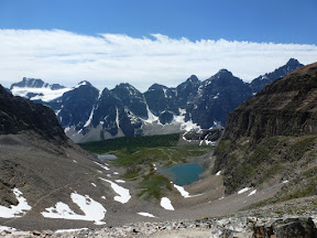 Lake Moraine. Larch Valley y Sentinel Pass. Eiffel Lake. 4 de julio