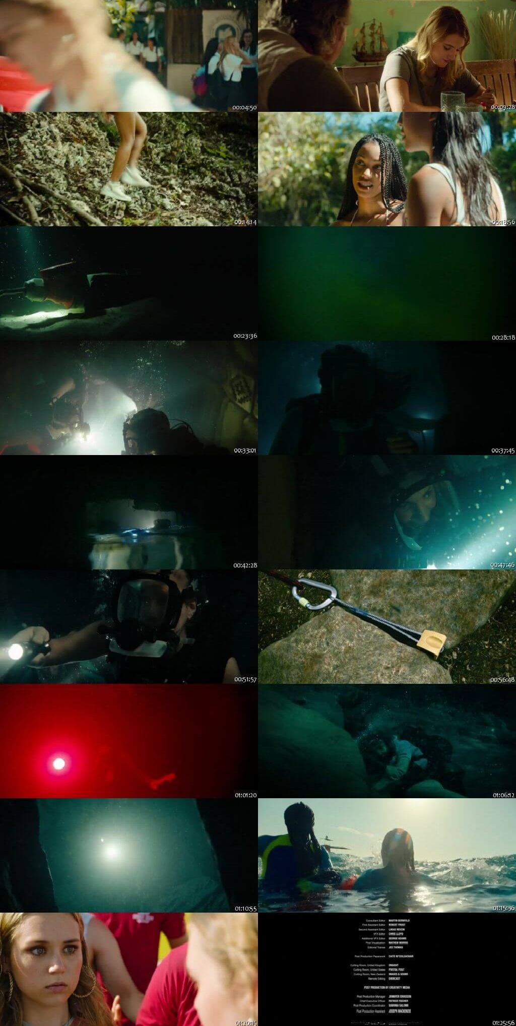 Screen Shot Of 47 Meters Down: Uncaged 2019 300MB Full Movie Hindi Dubbed Free Download 480P BRRip Small Size PC Movie